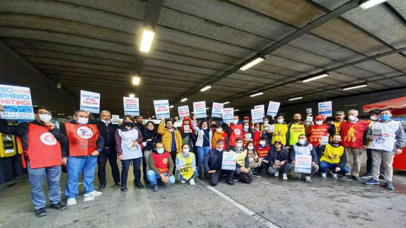 24 Ekim Kartal mitingi için Mecidiyeköy'de halka çağrı