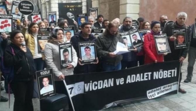 'Adalet Arayan İşçi Aileleri'nin düzenlediği 'Vicdan ve Adalet Nöbeti' ne engel