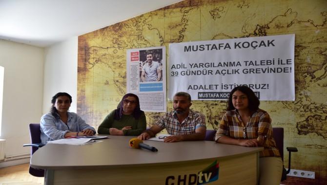 Adil yargılanma talebiyle çlık grevinde olan Mustafa Koçak'ın ailesi de açlık grevine başlıyor