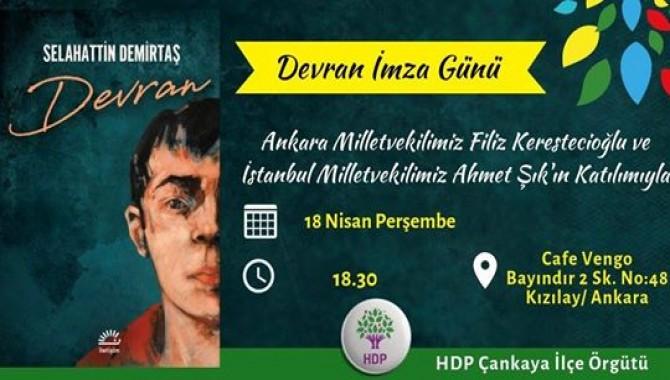 Ahmet Şık ve Filiz Kerestecioğlu, Demirtaş'ın kitabını imzalayacak
