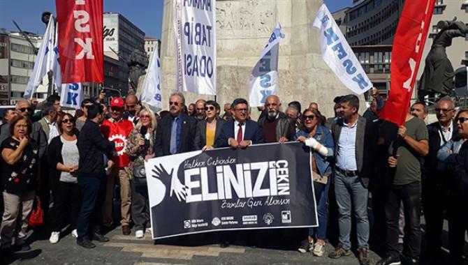 Ankara'da zamlar protesto edildi