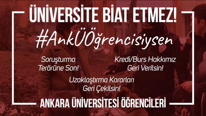 """Ankara Üniversitesi öğrencilerinden basın açıklaması: """"Üniversite biat etmez!"""""""