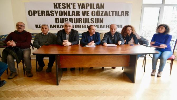 Ankara'da 12 kişi gözaltına alındı, KESK tepki gösterdi