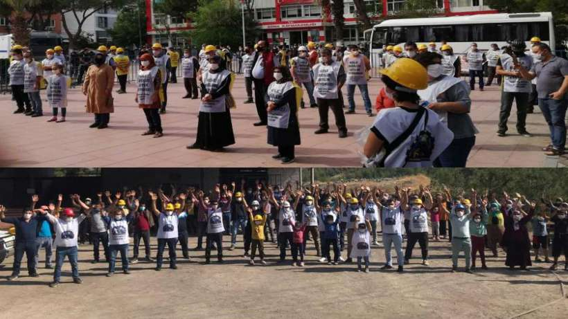 Ankaraya yürümek isteren Soma maden işçileri Salihlide gözaltına alındı