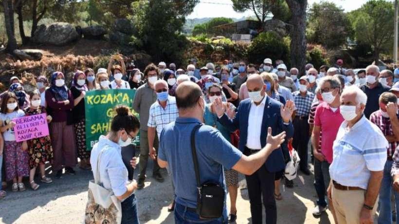 Bergama'da köylüler ÇED toplantısını engelledi