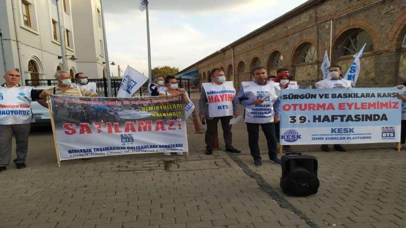 BTSnin demiryollarının özelleştirilmesi ve sürgünlere karşı eylemi 39. haftasında