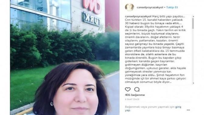 Cansel Poyraz Akyol CNN Türk'e 'Olmasaydı sonumuz böyle' ile veda etti