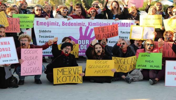 Çocuk istismarına evlilikle affa karşı Didim'de kadınlar sokakta!