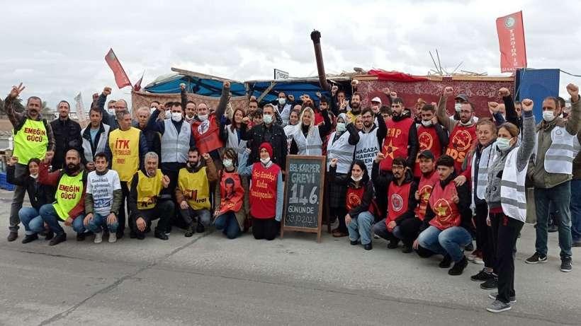 Çorlu Bel Karper ve AdkoTürk'te direnen işçilere Kartal Mitingi daveti
