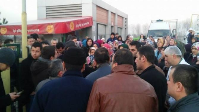 CP Piliç'te işçiler eylem yaptı