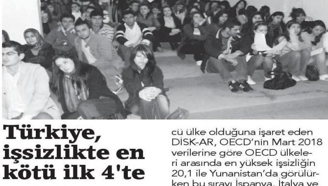 DİSK-AR, gerçek işsizlik rakamlarını açıkladı