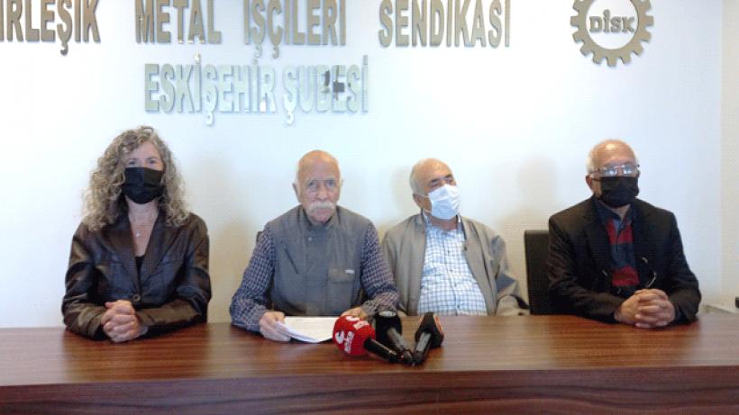 DİSK Emekli-Sene kapatma kararına Eskişehirden tepki