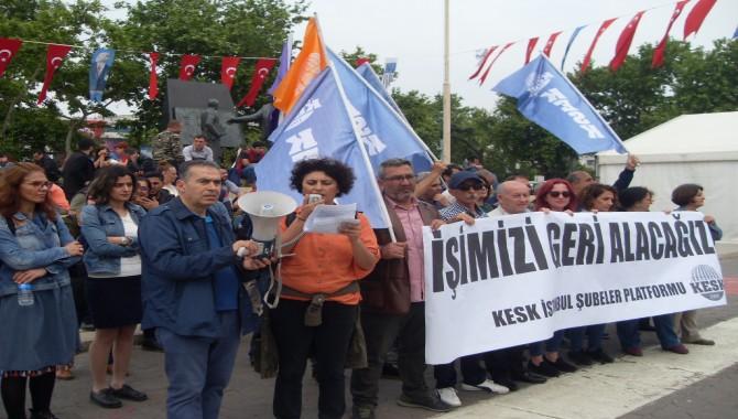 """""""Emeği,barışı ve demokrasiyi savunanları mücadele verdikleri için  ihraç ettiler"""""""