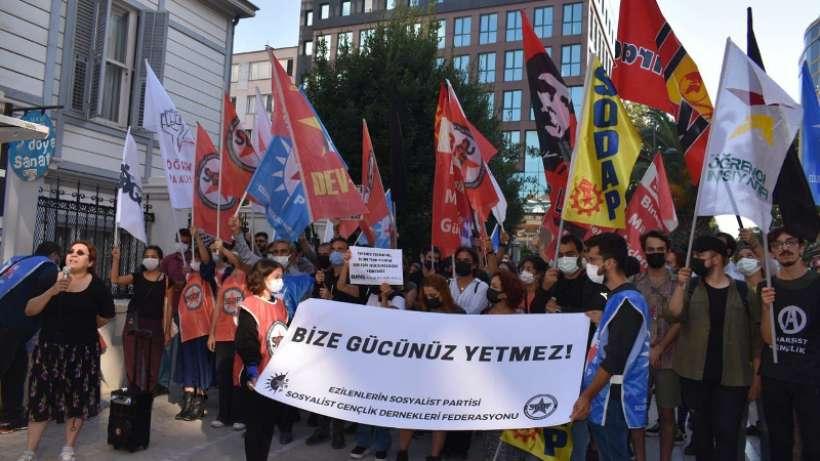ESP'ye yönelik gözaltı saldırısına İstanbul'da tepki gösterildi