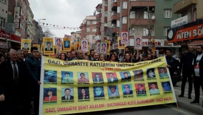 Gazi Katliamının 24'üncü yılında protesto ve anma