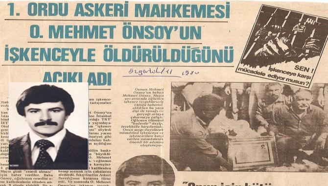 Gençlik ve işçi önderlerinden Osman Önsoy anılıyor