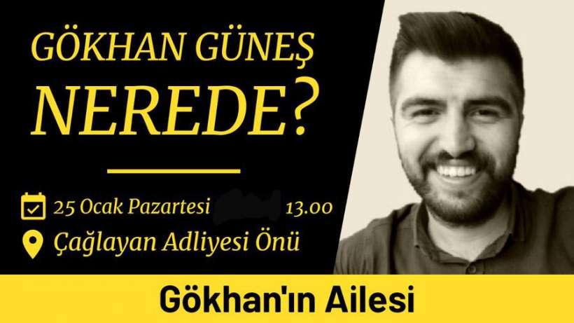 Gökhan Güneş'in ailesi İstanbul Adliyesi önünde oturma eylemi yapacak