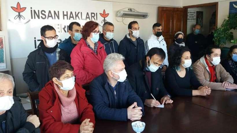 Gözaltılar için İzmir'de basın toplantısı