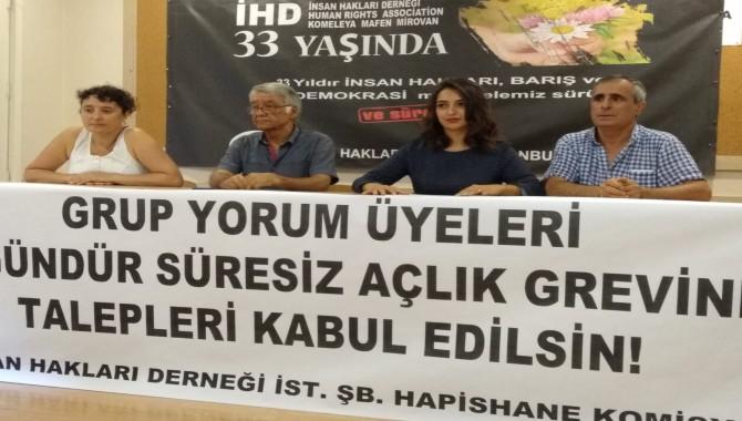 İHD İstanbul Şubesi Hapishane Komisyonu; Grup Yorum'a özgürlük istedi