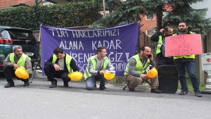 İnşaat işçileri: Haklarımızı alana kadar mücadele edeceğiz