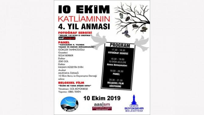 İzmir'de 10 Ekim Ankara Katliamı anması programı belli oldu