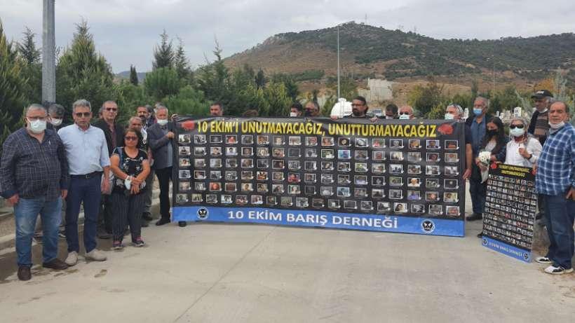 İzmirde 10 Ekimde katledilenler anıldı