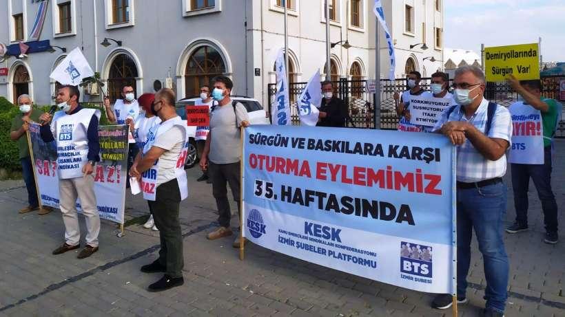 İzmir'de BTS 35. haftadır özelleştirme ve sürgünlere direniyor