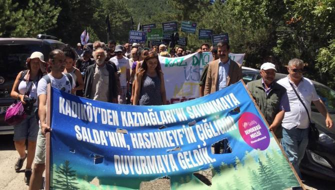 Kadıköy Demokrasi Meclisi, TİP, HDK, HDP ve Patika Ekoloji Kolektifi'nden  Kazdağları'nda protesto