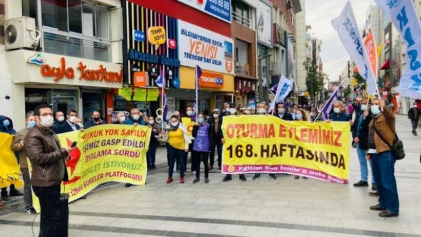 Karşıyaka'da 168. eylem: Gücümüzü mücadeleden alıyoruz
