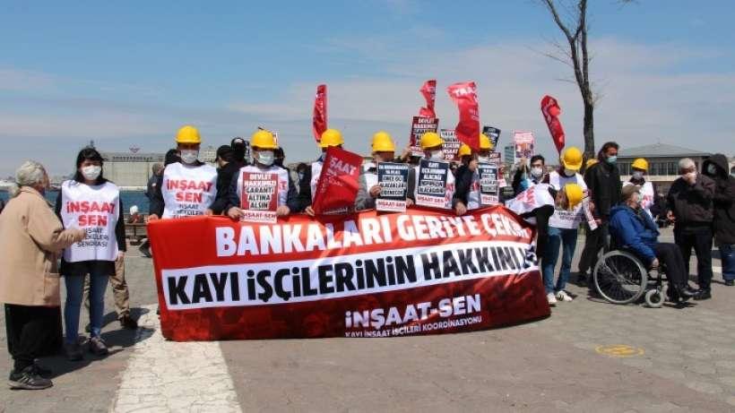 Kayı işçileri 2 buçuk yıldır verilmeyen maaşlarını istedi