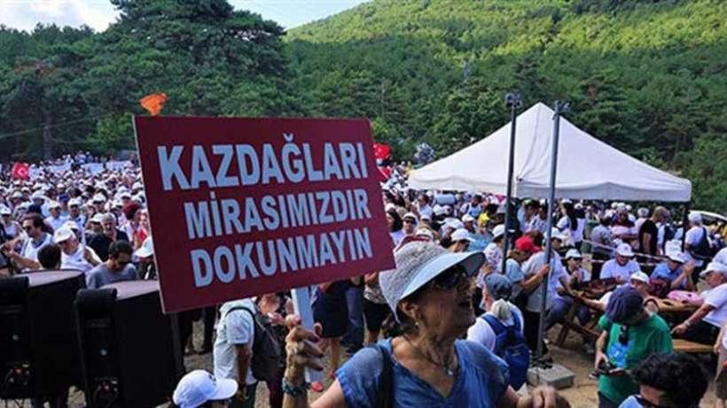 Kaz Dağları'ndaki nöbet alanının boşaltılmasına 65 kurumdan tepki