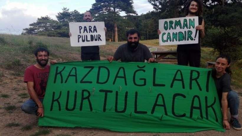 Kazdağlarında Yaşam Nöbetine polis baskını: Gözaltılar var
