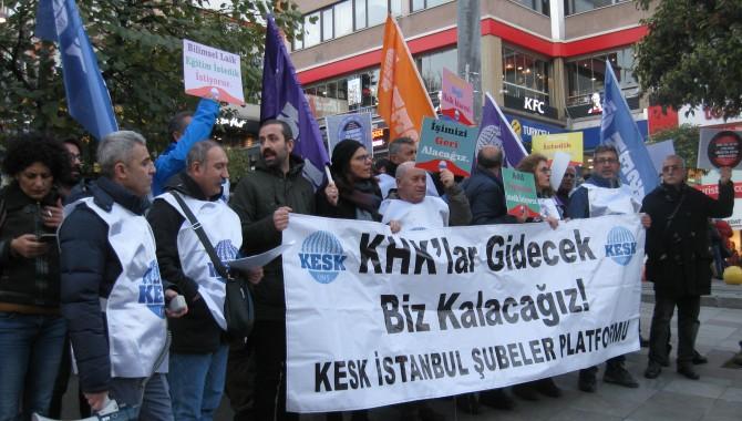KESK  Kadıköy'de basın açıklaması yaptı... 'Krizin faturasını yaratanlar ödesin'