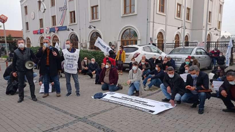 KESK'ten sürgünlere karşı İzmir'de oturma eylemi