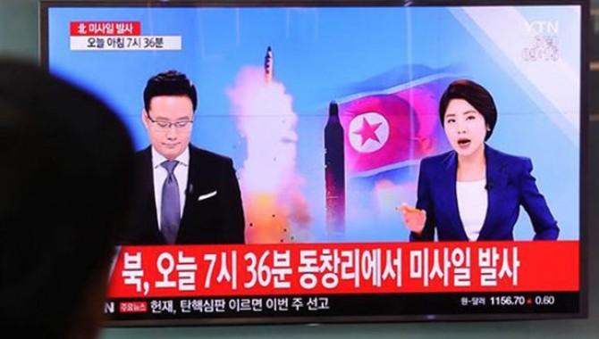Kuzey Kore 4 roket birden fırlattı