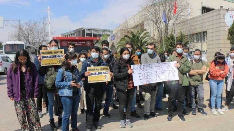 KYK yönetmeliğindeki değişikliği protesto ettiler