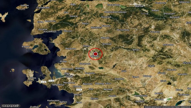 Manisa'da 4.8 büyüklüğünde deprem