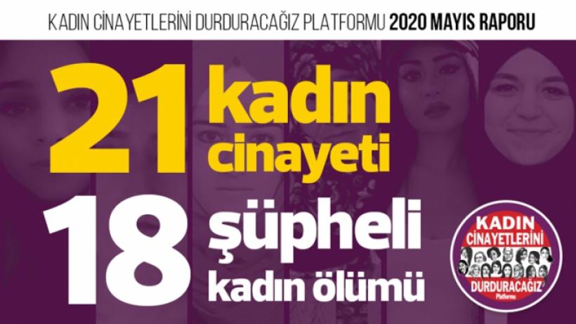 Mayıs ayında 21 kadın katledildi