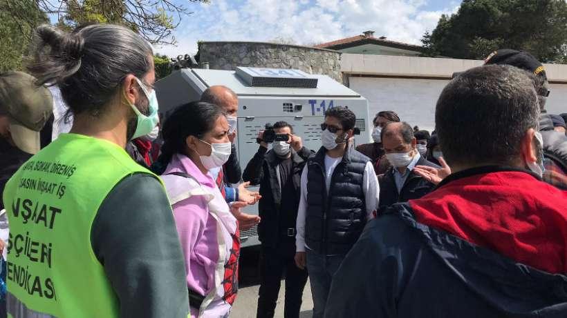 Migros direnişi 100. gününde işçiler yine gözaltına alındı