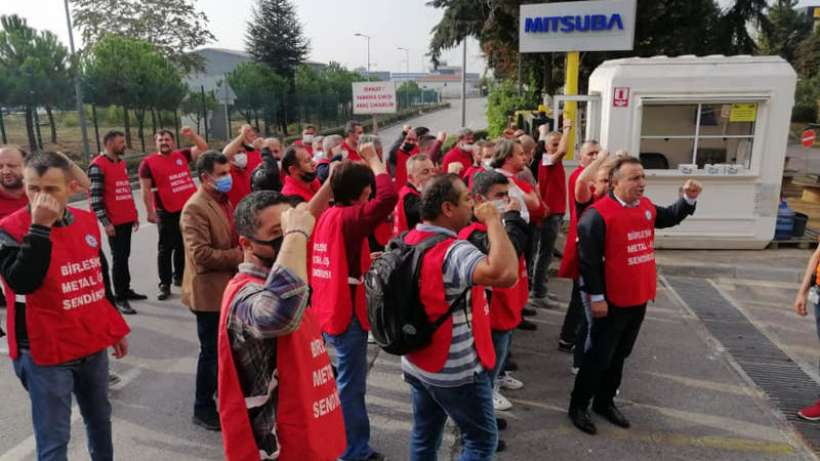 Mitsuba işçileri fabrikayı terk etmeme kararı aldı