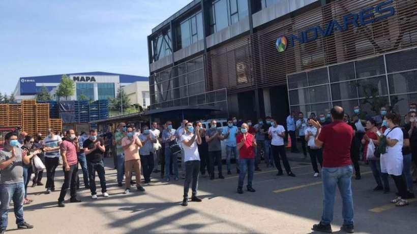 Novares işçileri greve çıktı