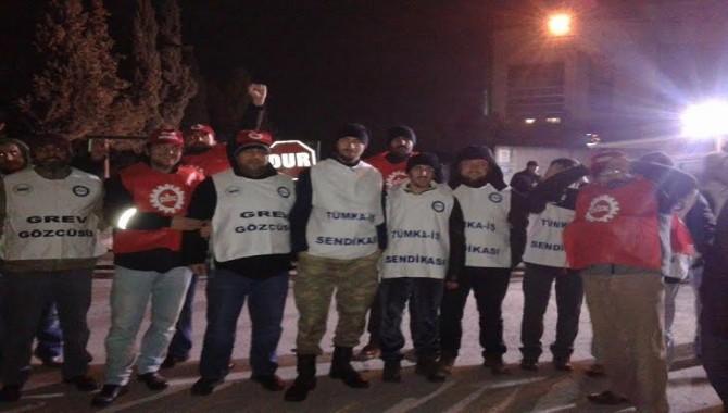 SCA YILDIZ'da grev başladı