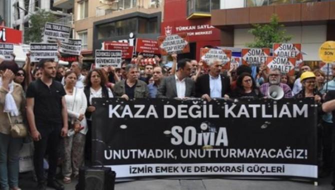 Soma katliamında ölen 301 madenci İzmir'de anıldı