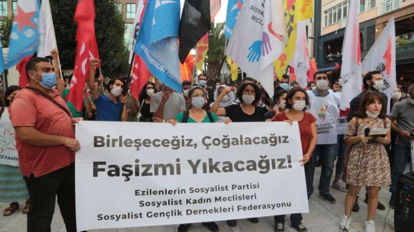 Sosyalistlere yönelik gözaltılar protesto edildi
