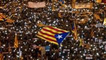350 bin kişi Katalonya'nın siyasi tutuklularına özgürlük istedi