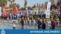 Adana'da krize karşı miting: İşçilerin borcu değil, alacağı var