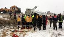 Ankara yolunda yolcu otobüsü devrildi: 7 ölü, 22 yaralı