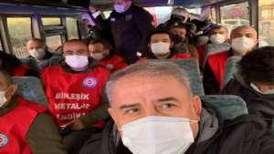 Ankara'ya yürümek isteyen metal işçilerine polis saldırısı: 109 gözaltı