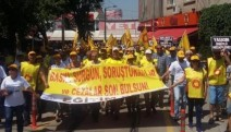 Ankara'ya yürüyen Eğitim-Sen Bursa'ya ulaştı
