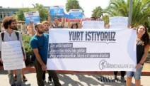 """Antalya'da üniversiteliler eylemde: """"Barınma, eğitim hakkından bağımsız olamaz"""""""